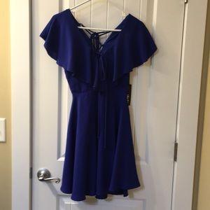 Blue lulus dress.